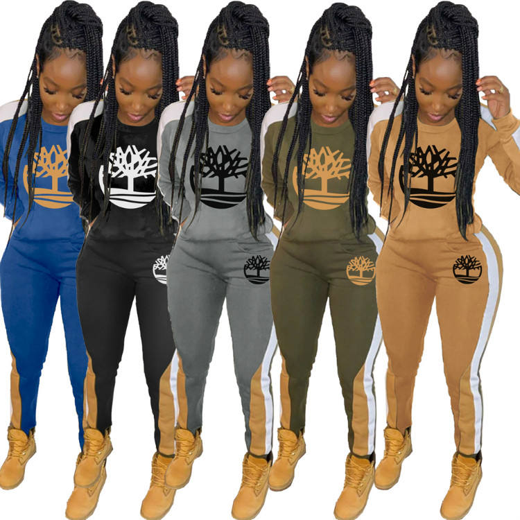 2020 Women Sweatsuit Set Winter Jogger Suits Sports Women Tracksuit Two Piece Fashion Jogger Pants Set Women Two Piece Outfits