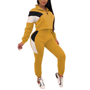 Wholesale women fitness sports track suits ladies jogging suits