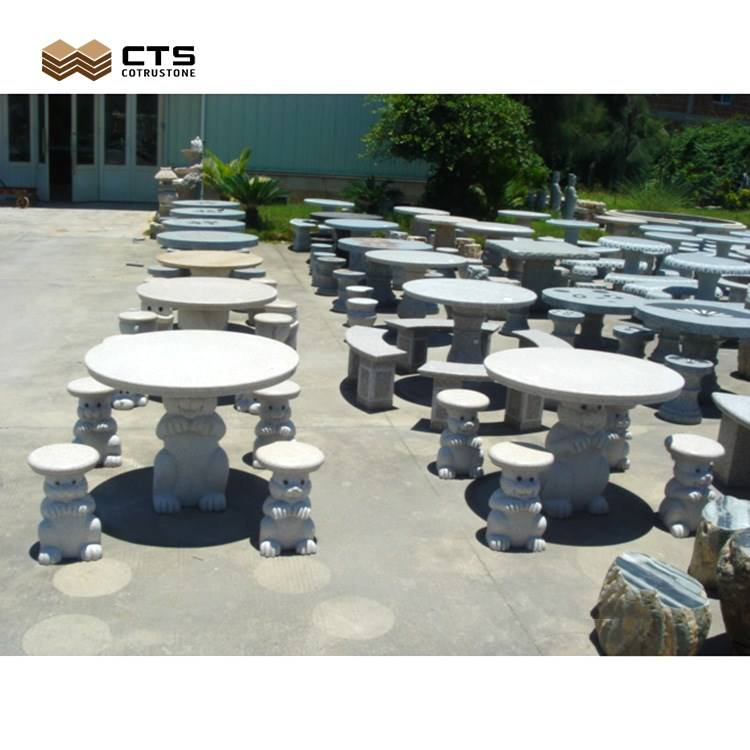 Garden Outdoor Stone Table and Bench Tables & Chairs