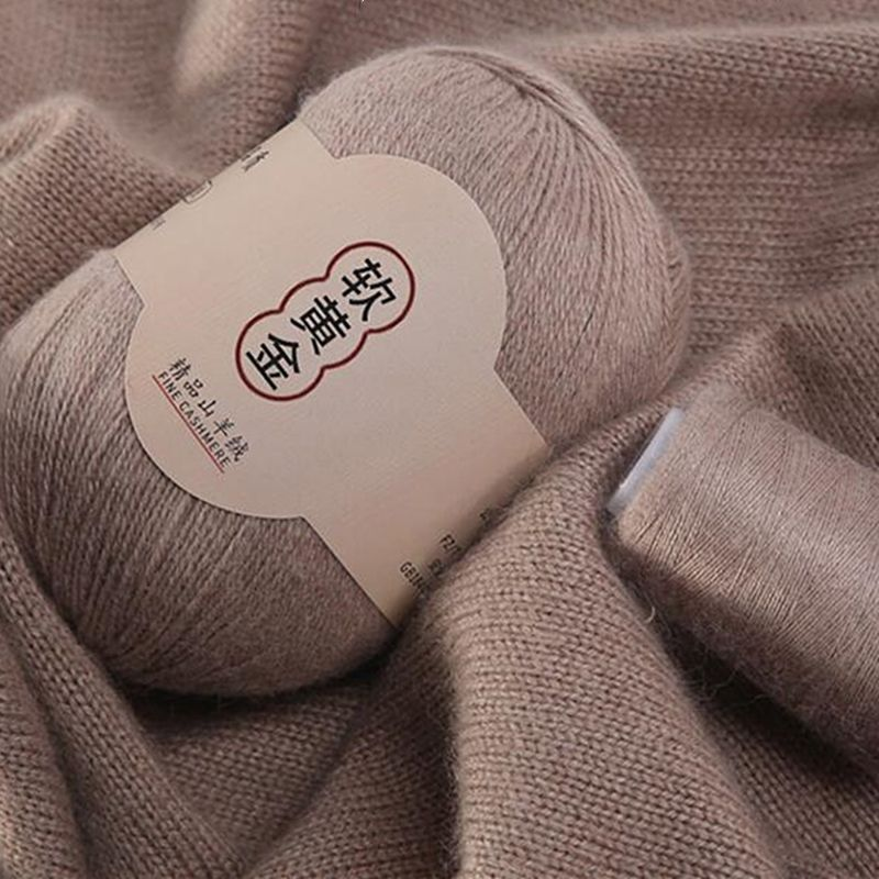 50g+20g /set 100% Mongolian Cashmere Hand-knitted Cashmere Yarn Wool Cashmere Knitting Yarn Ball Scarf Wool Yarn