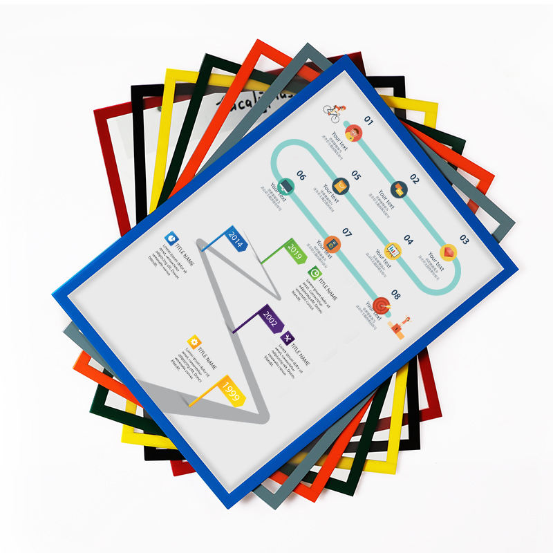 Amazon Hot Selling Magnetische A4 File Venster Magnetische Document Houder File Venster Document Bestand Display