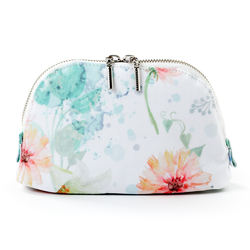 Fashion small portable cute zipper waterproof floralmakeup pouch for women