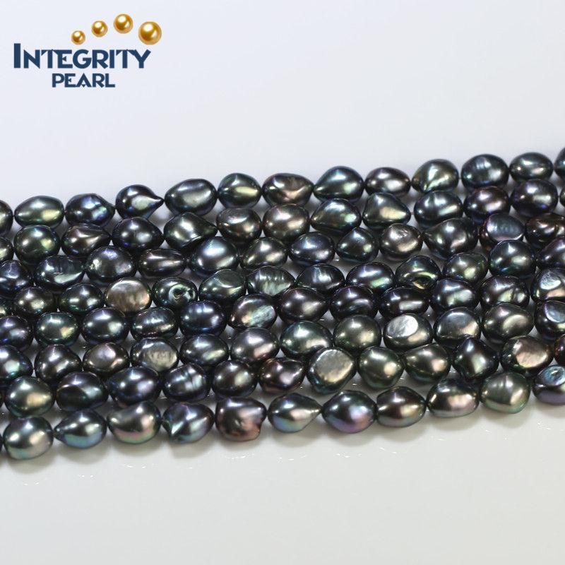 flower pendant genuine nature freshwater pearl  zirconinlaid alloy  9-10mm