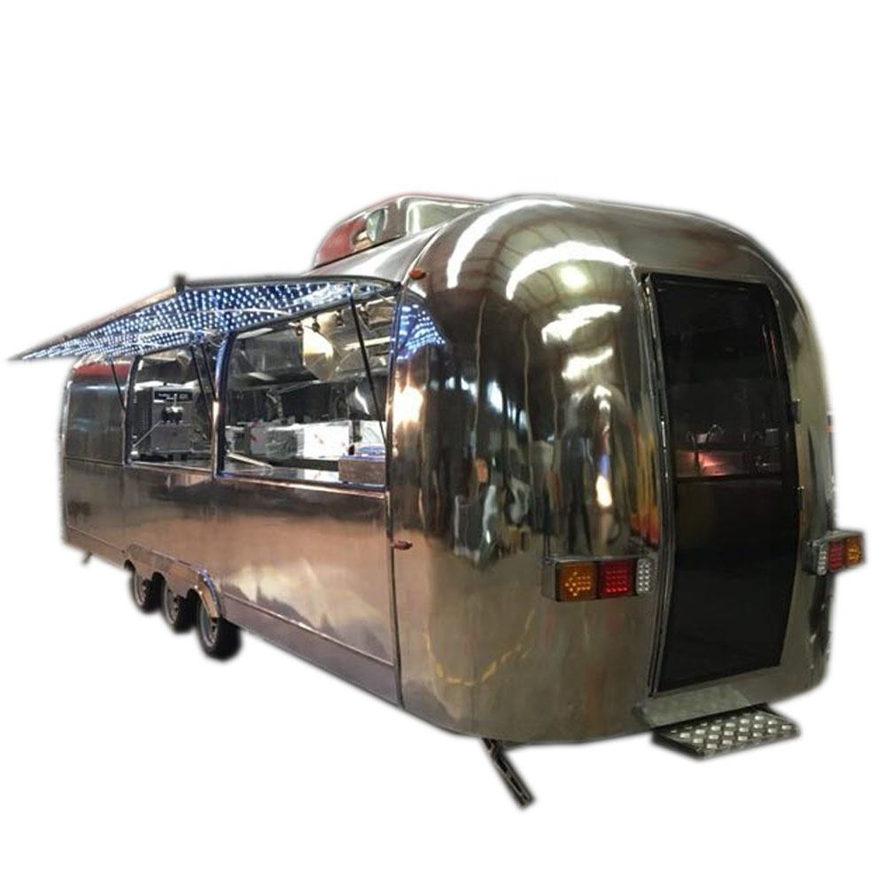 2020 new arrival 9m long airstream concession food truck with 5cm thickness insulation/street food vending cart/used food trucks