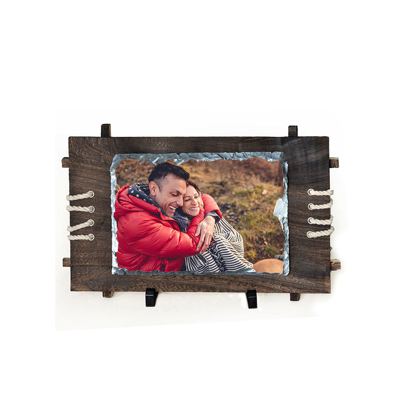 Heat Press Sublimation Magic Photo Slate with Wooden Frame
