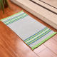 Chinese factory supply non slip rug pad washable polyester carpet for living room bedroom floor mat stripe rug with tassels