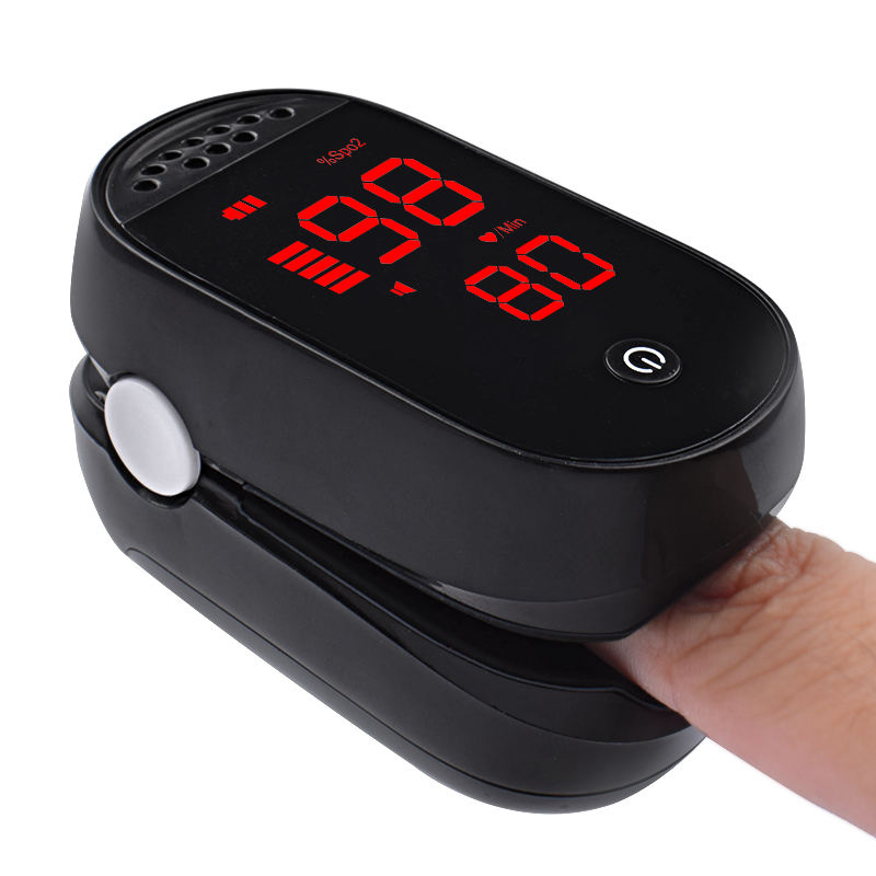 CE approved blood test equipment instant read digital fingertip pulse oximeter blood oxygen saturation monitor