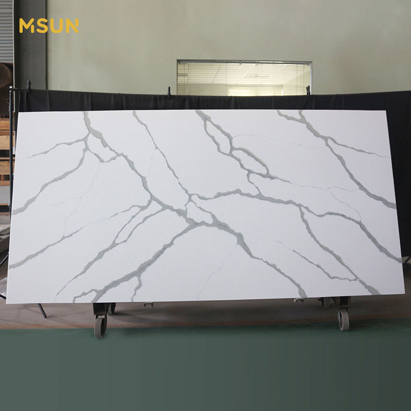 MSUN 12mm Acrylic Solid Surface Stone 6mm Artificial Stone Texture Vein Resin Stone Sheet Slabs Solid Surface