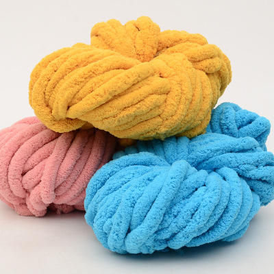 2020 new material thickness polyester iceland wool Super soft Chunky Giant Thick Merino Wool Yarn for Blankets chenille yarn