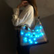 2020 New product ideas handbag led light designer tote christian jelly handbags for women