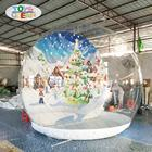 free shipment outdoor inflatable Christmas photo snow globes for advertising display