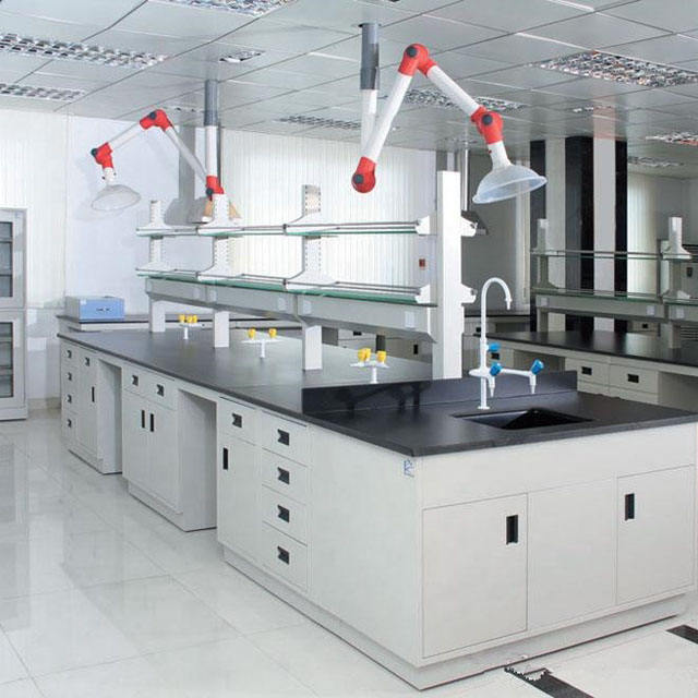High Quality Chemistry Medical Experiment Epoxy Resin Worktop Lab Furniture Equipment, Laboratory Island Work Bench With Sink/