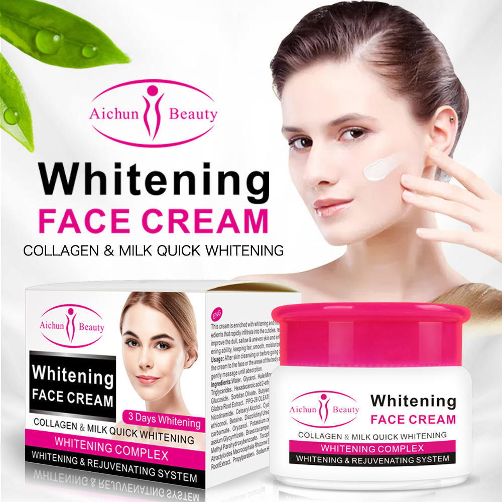 Aichun Beauty 3 Days Moisturizing Natural Bright Skin Care Whitening Cream for Face