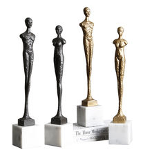 Minimalist home interior accessories decoration marble stand figures ornament