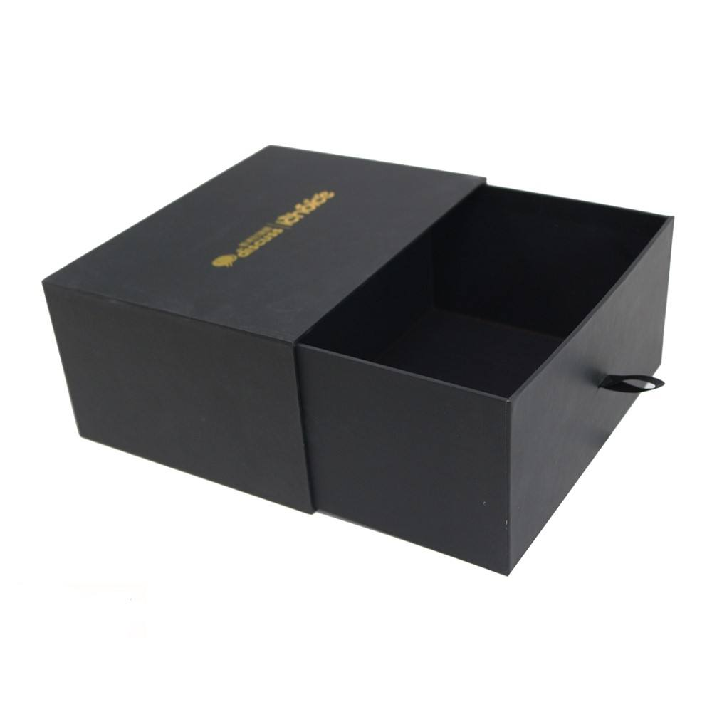 luxury clothing carton cardboard gift box packaging black