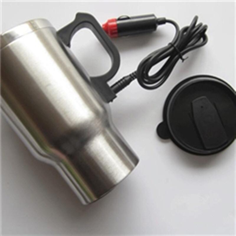 Manufacture Wholesale heat USB 12V stainless steel electric heating car mug auto coffee mug car travel mug with lid