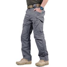 Men Cargo Pants Outdoor Multi Pockets Cotton Military Wear-resisting Climbing Trousers
