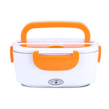 12V Car use Thermal Heated Electric Heating Lunch Box Leakproof  Rectangle Stainless steel Container
