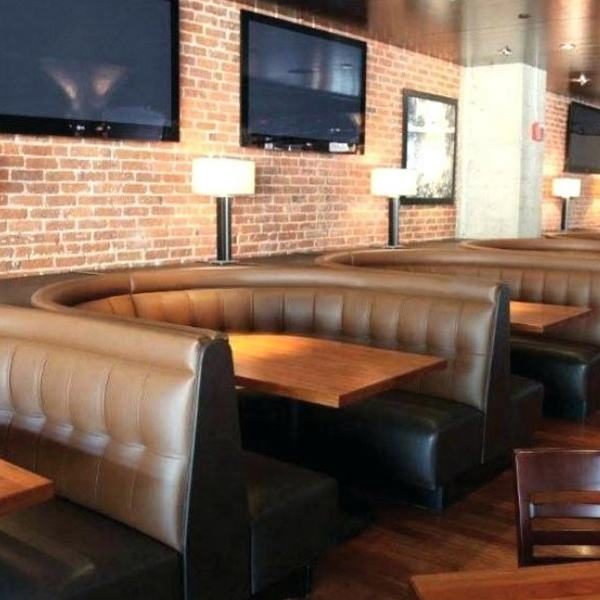 Modern Fast Food Restaurant Furniture Double Sided Customized Restaurant Sofas Booth Seating