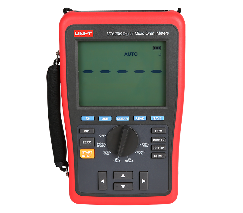 Uni-t UT620B LCD Counts 60000 Digital Micro Ohm Meter Low Resistance Tester Usb Transmission