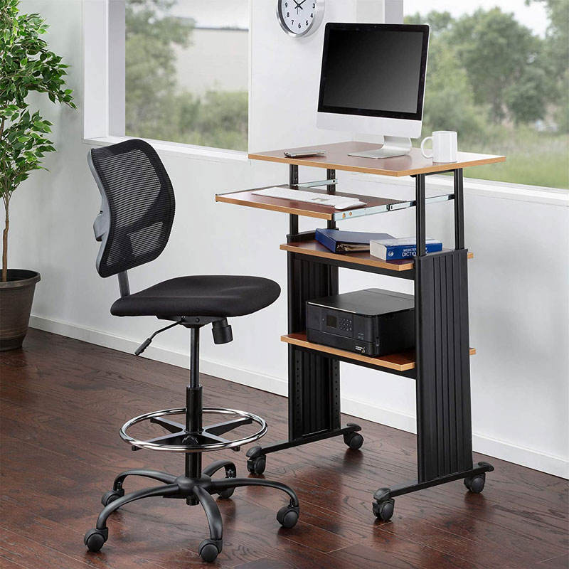 "35-49""H Stand-Up Desk Adjustable Height Computer Workstation with Keyboard Shelf"