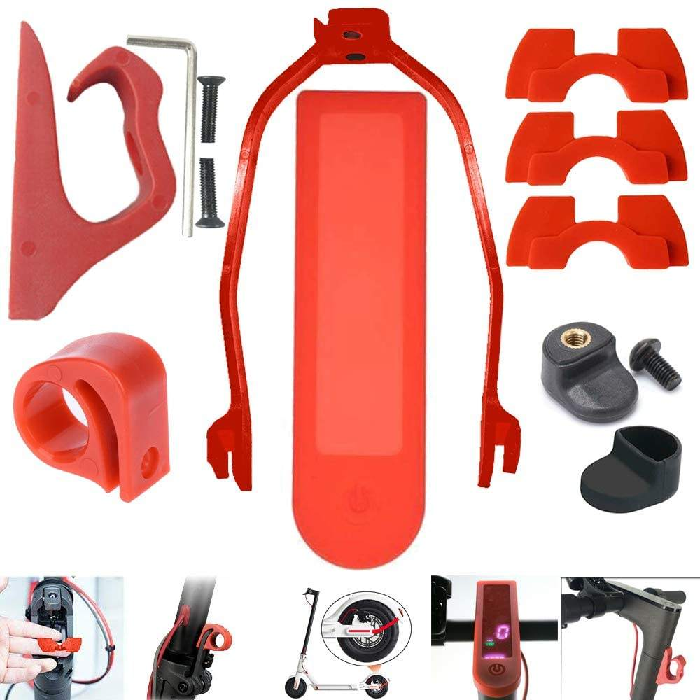 Scooter Silicone Cover Hook Shock Absorber Damping Rear Fender Support For Xiaomi Scooter M365/M187/Pro Accessories Kit Set