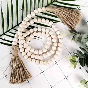 2 Packs Tassels Wood Bead Garland 57