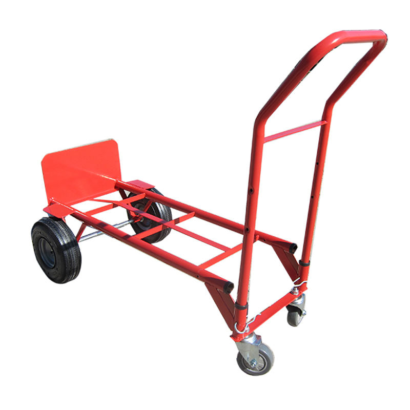 Vier wiel staal materiaal hand pull trolley HT1842