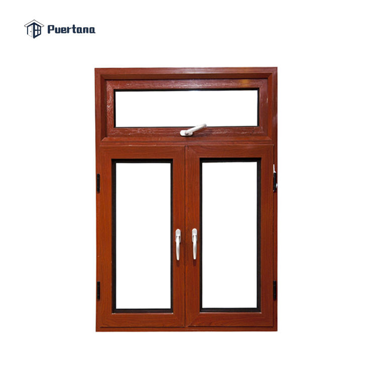 European And America Standard White Aluminum Profile Solid Aluminum Wood Window Design