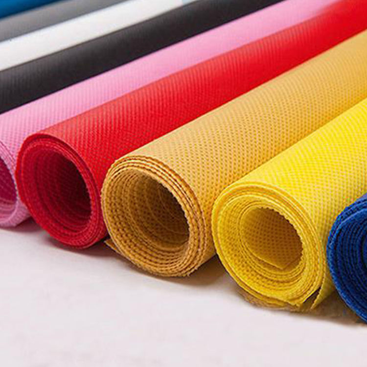 Colorful emboss pp spubonded nonwoven fabric PP spun bond non woven fabric roll