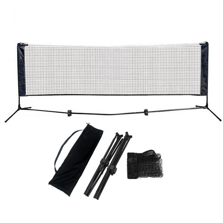 Factory Wholesale Price High Quality 3M Folding Adjustable Height Portable Badminton Net And Mini training Tennis Net Stand