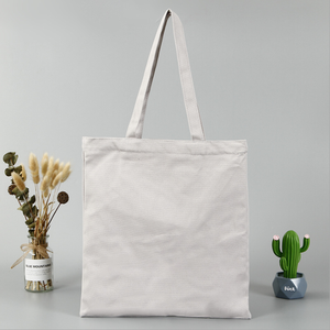 Eco Friendly Reusable Fold-able Custom Plain White Canvas Cotton Grocery Shopping Tote Bag with Logo Printing