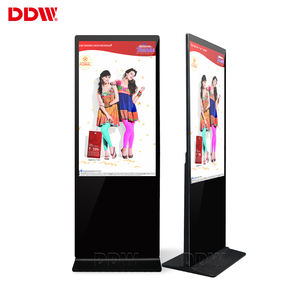 Custom 55 inch wifi lcd video advertising player android software free standing kiosk touch screen retail digital signage totem