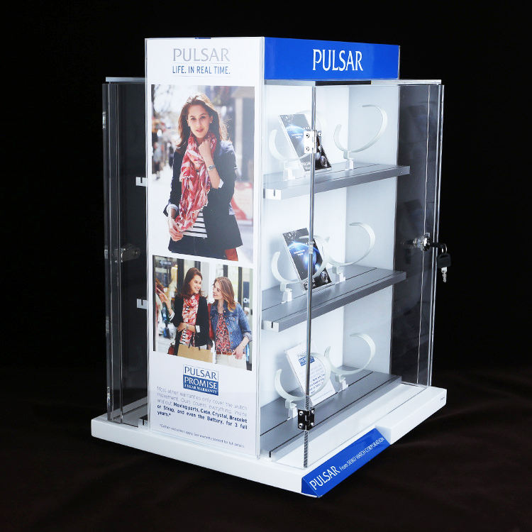 High Quality Acrylic Showcase Watch Stand Display Rack Showcase For Shop Display