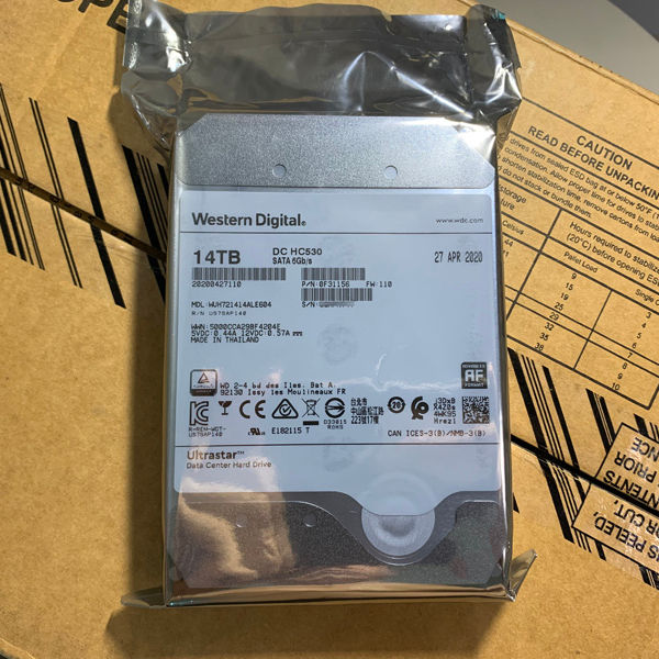 Dell WD / Western data 14tb wuh721414ale604 / 6l4 helium disk enterprise hard disk super 10t12t