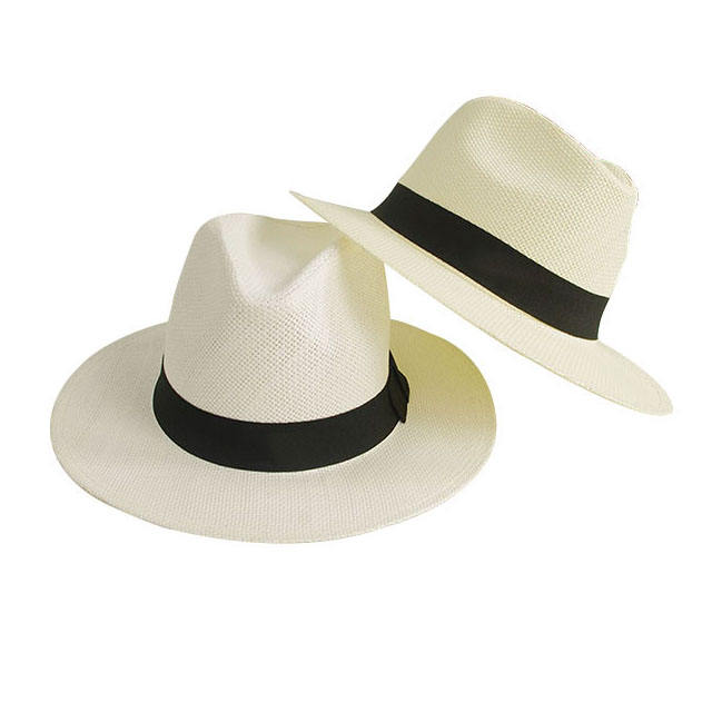 Wholesale summer beach men women straw bucket hat visor sombreros paper fedora straw hat