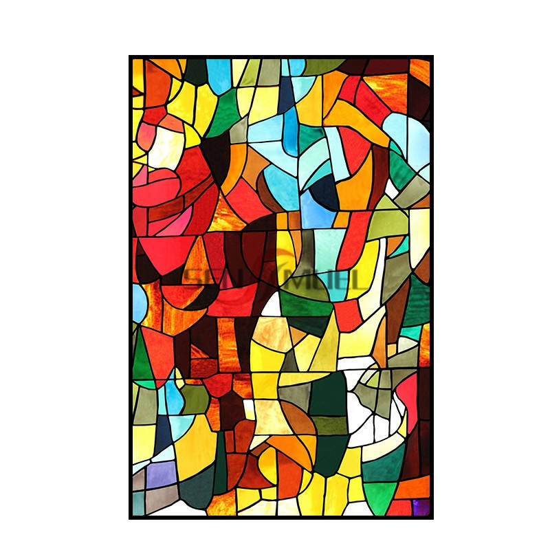 Art Museum Building Glass Customized Laminated Stained Glass for Decoration