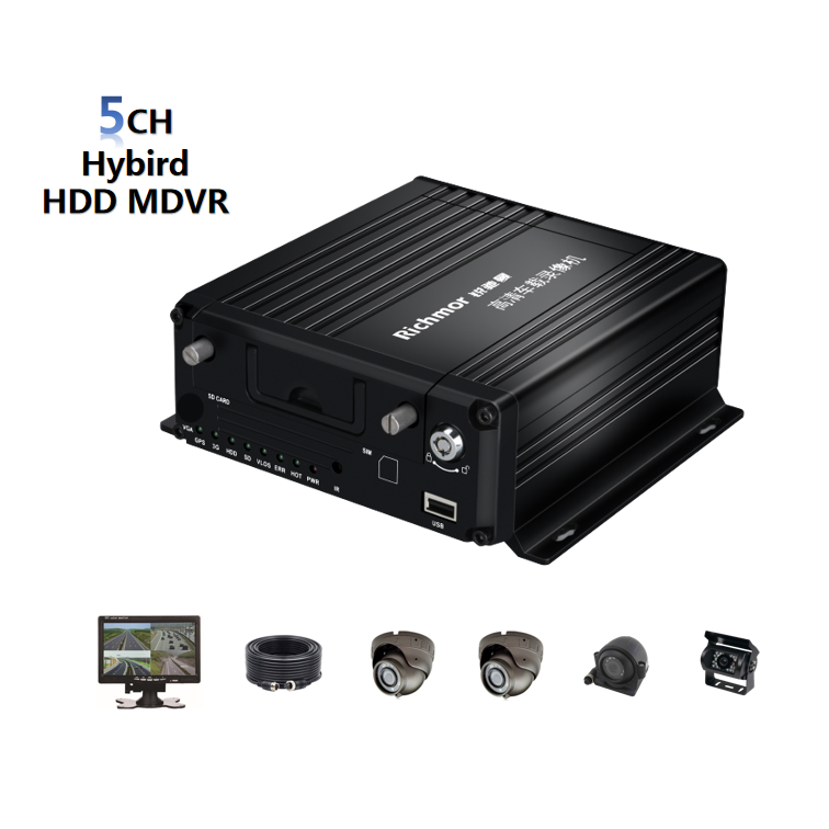 Richmor Wholesale Gセンサー4 Channel 720P HDD収納Vehicle Mobile DVR 3グラム4グラムwifi gps mdvr