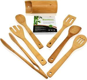 Eco Friendly Bamboo Spatula Utensil Kitchen Cooking Wood Utensil Spatula Turner Cookware Wood Wooden Bamboo Spatula Utensil