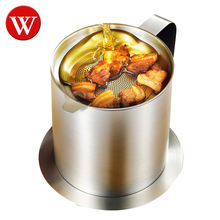 Cooking Oil Fat Separator And Bacon Grease Container Can With Fat Strainer Stainless Steel Grease Filter Oil Filter Strainer