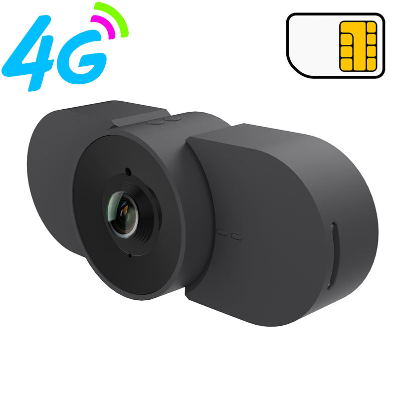 portable outdoor remote monitoring wide angle spy P2P security mini wireless cameras GSM 4G LTE micro SIM slot camera
