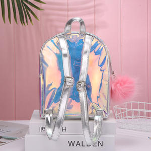 Amazon hot selling Unicorn Student Schoolbag Backpack Women Girls Color Laser Silver Hologram Travel Bag