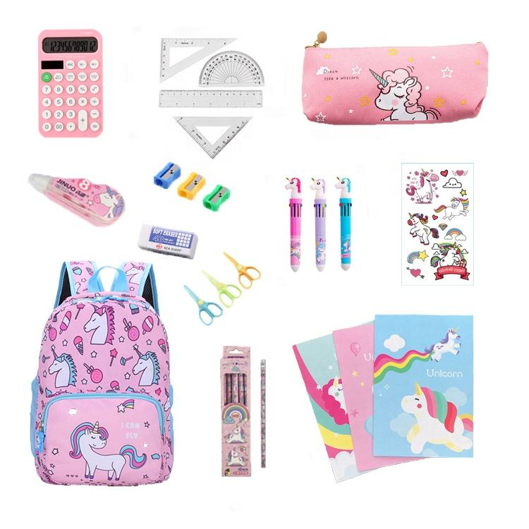 Girl Stationery Cheap Unicorn Theme Stationery kits Back To School Essential ,Great bundle includes several essentials supplies
