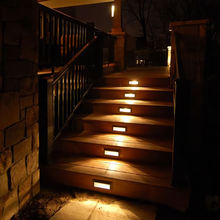 12w 3w cube decorative aluminum design waterproof staircase lamp ip65 outdoor recessed square stair led wall step lights