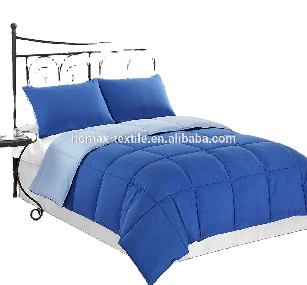 Wholesale solid bedding comforter set blanket down eiderdown quilt