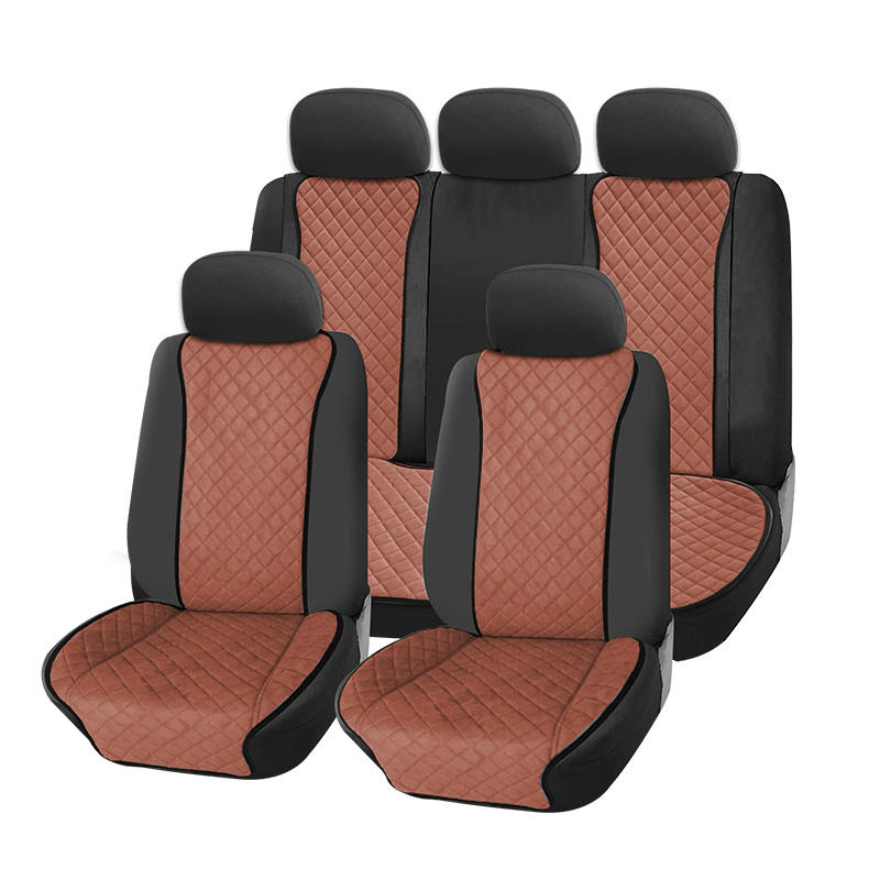 Rownfur economical Suede fashion and modern fancy universal car seat covers