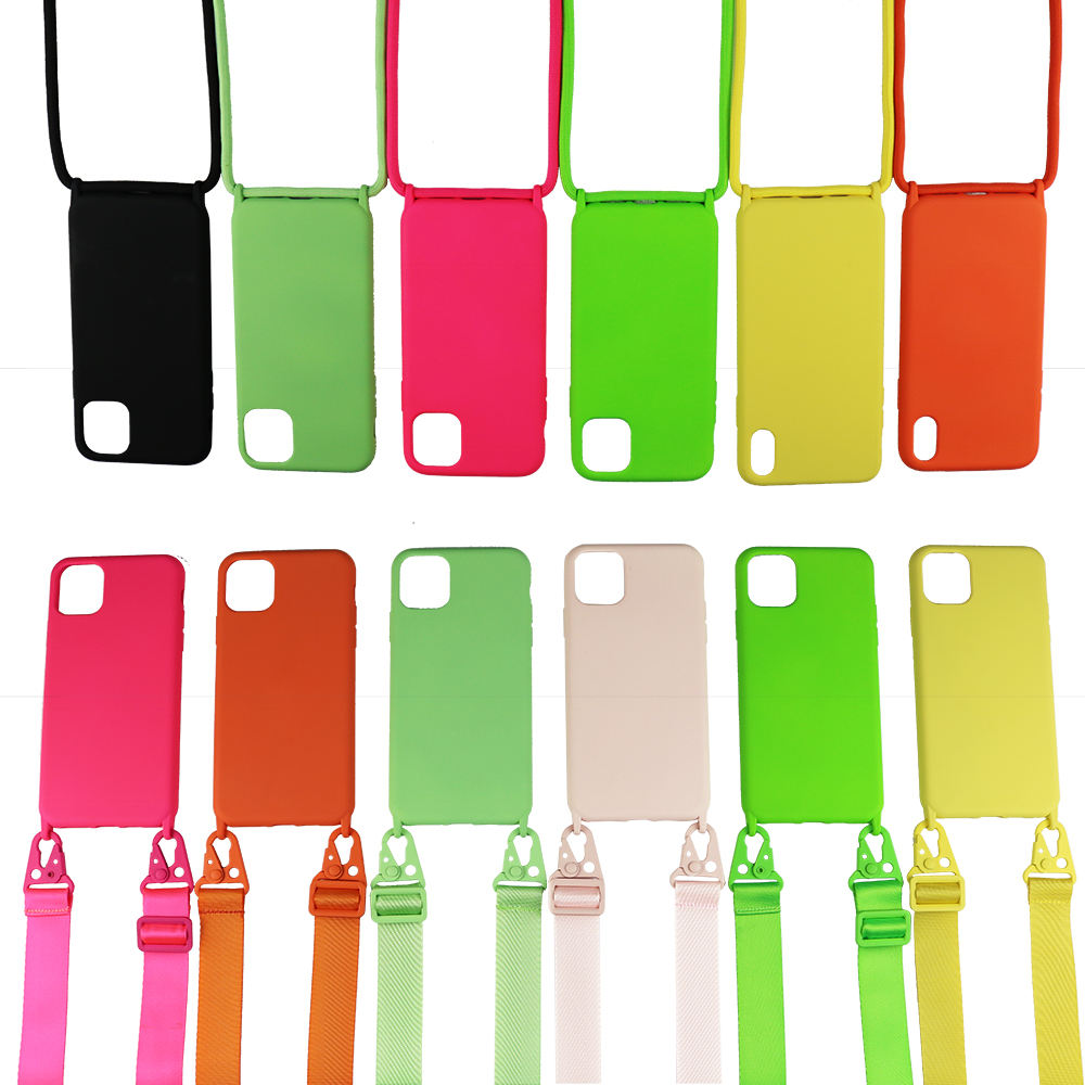 2020 Necklace Crossbody Lanyard silicone Phone Case For iPhone 11 Pro Max 11 Pro 11 X XR 6 7 8 PLUS SE2