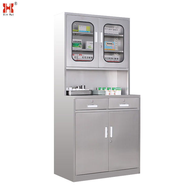 Metal medical cupboard medicine hospital storage cabinet for doctor