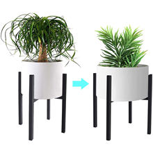 Plant Stand House Home Decor Modern Mid Century Display Holder Rack Wrought Iron Adjustable Indoor Flower Pot Metal Plant Stand