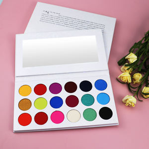 No Logo High Pigment Cruelty Free Eyeshadow Palette Private Label 18 Color Eyeshadow Cosmetics Vendors